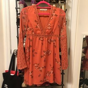 Abercrombie orange floral dress